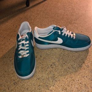 Teal Nike air force ones Mens size 10